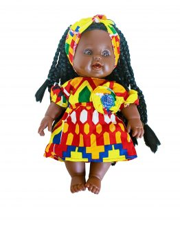 Tokunbo Yellow Colourful Dress