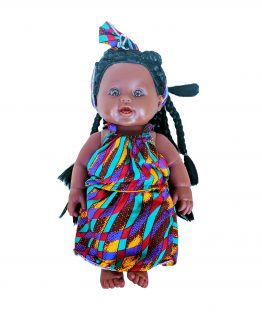 Chiasoka Tokunbo wearing multi-coloured dress