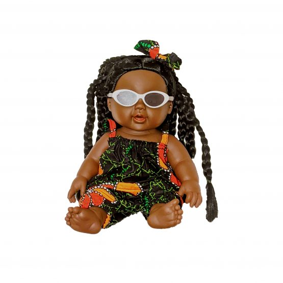 Tokunbo Doll pants, top and glasses